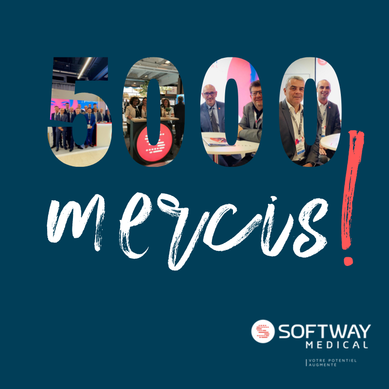 #BRAVO | SOFTWAY MEDICAL PASSE LA BARRE DES 5000 ABONNÉS LINKEDIN !