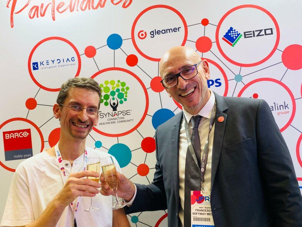 Jean Noel Ravey co-fondateur de KEYMAGING pour avoir accepté la pose aux cotés de Jean-Baptiste Franceschini pendant JFR 2019