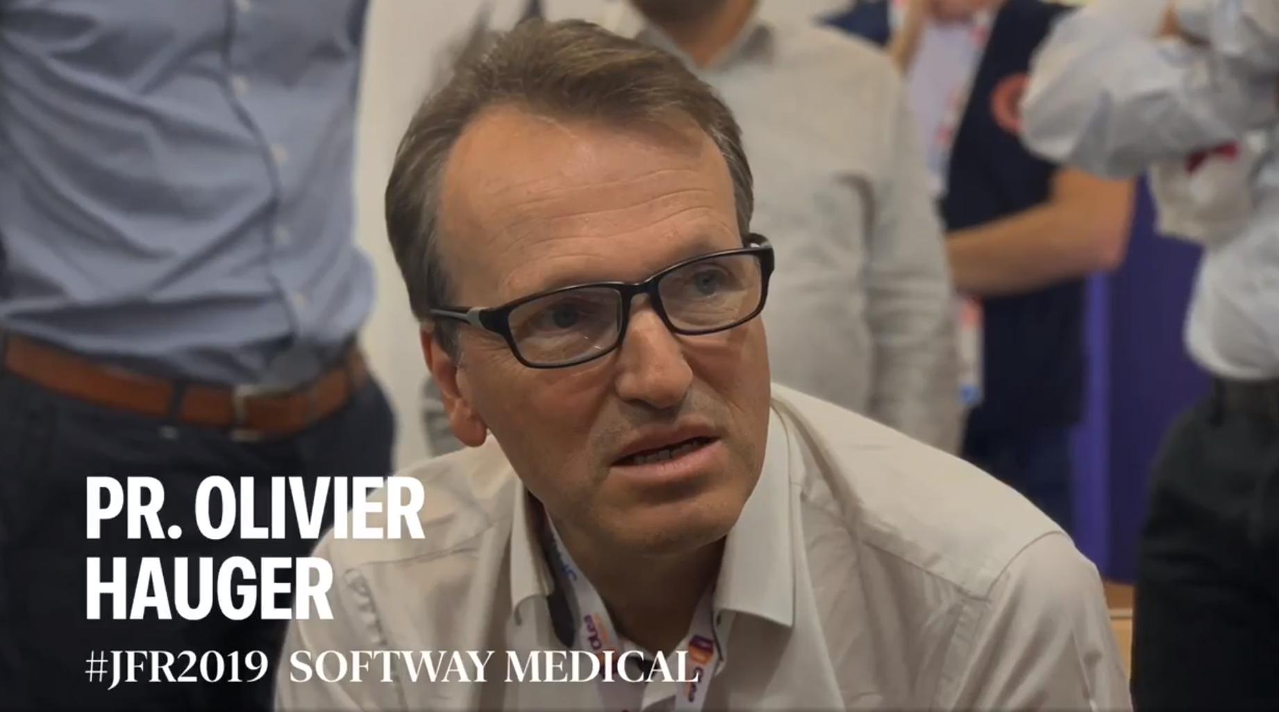 #JFR2019   LE PROFESSEUR OLIVIER HAUGER SUR LE STAND DE SOFTWAY MEDICAL