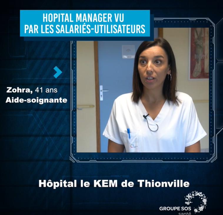 Zohra , Aide Soignante et Référente HOPITAL MANAGER – Groupe SOS SANTE