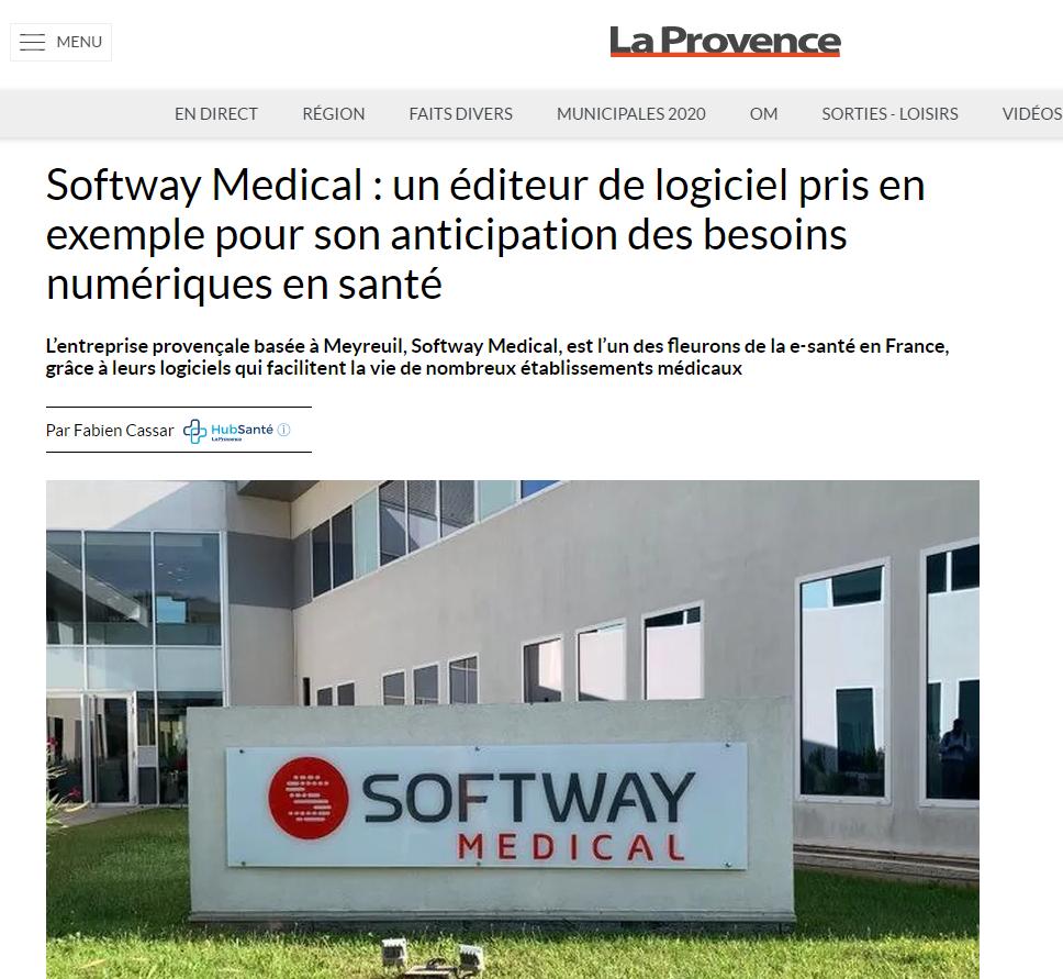 Article de la provence softway medical