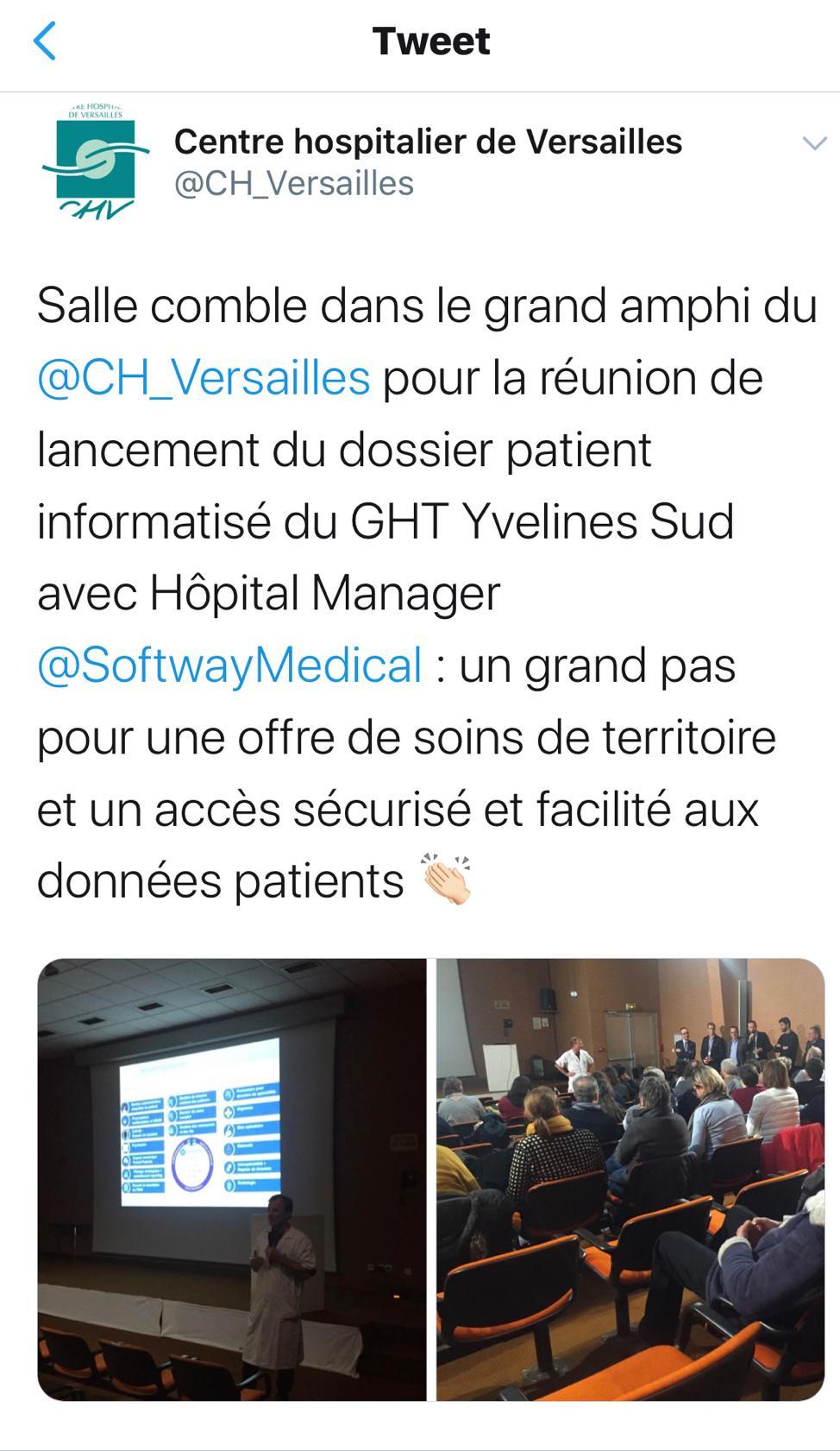 Merci au CENTRE HOSPITALIER DE VERSAILLES pour sa confiance !