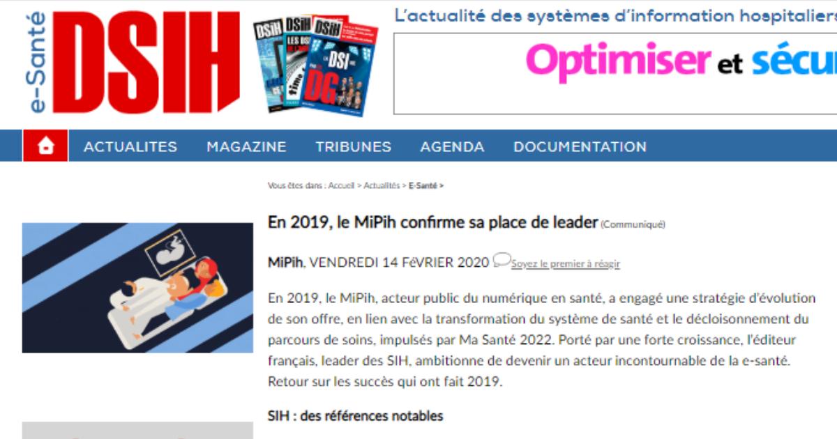 ON PARLE DE NOUS DANS DSIH :                                           En 2019, le MiPih confirme sa place de leader