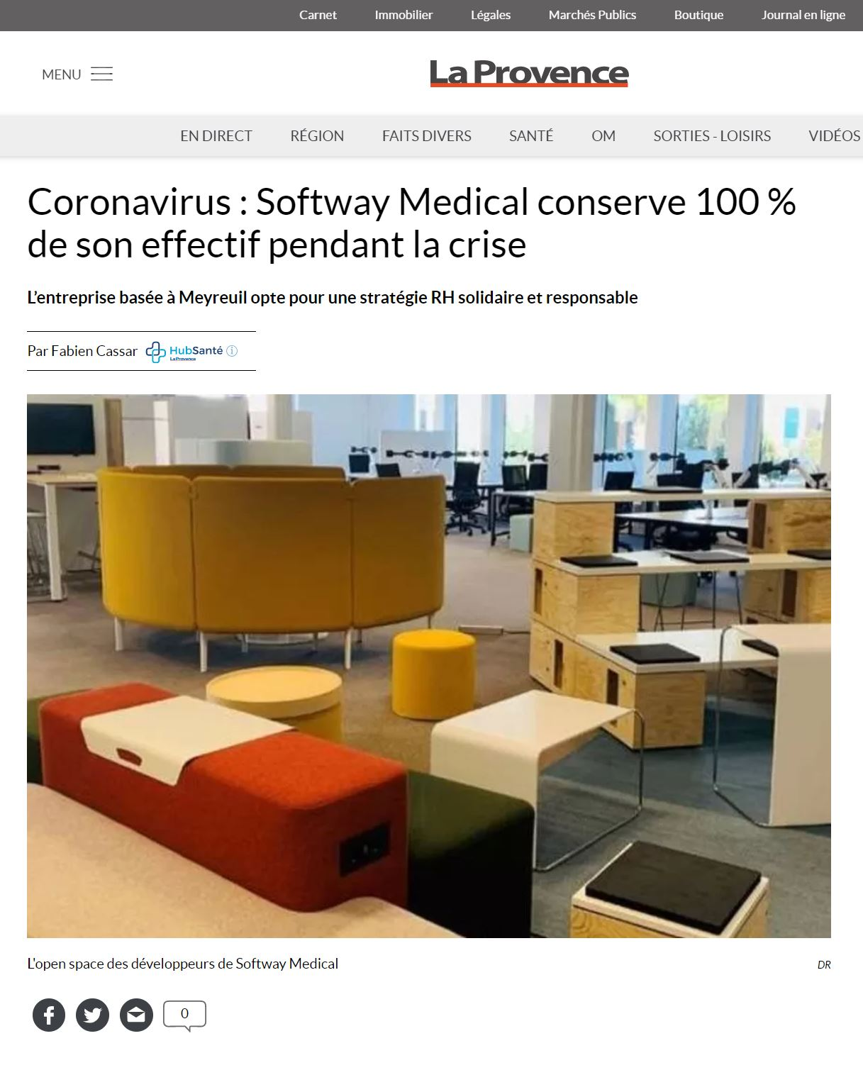 Coronavirus : Softway Medical conserve 100% de son effectif pendant la crise