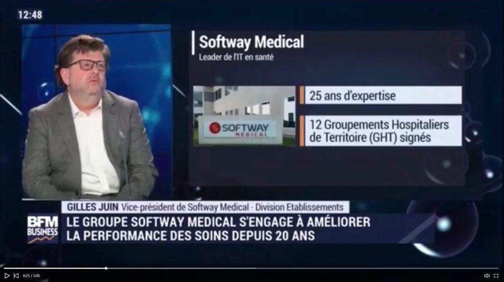 Replay Gilles Juin de Softway Medial sur le plateau de BFM Business