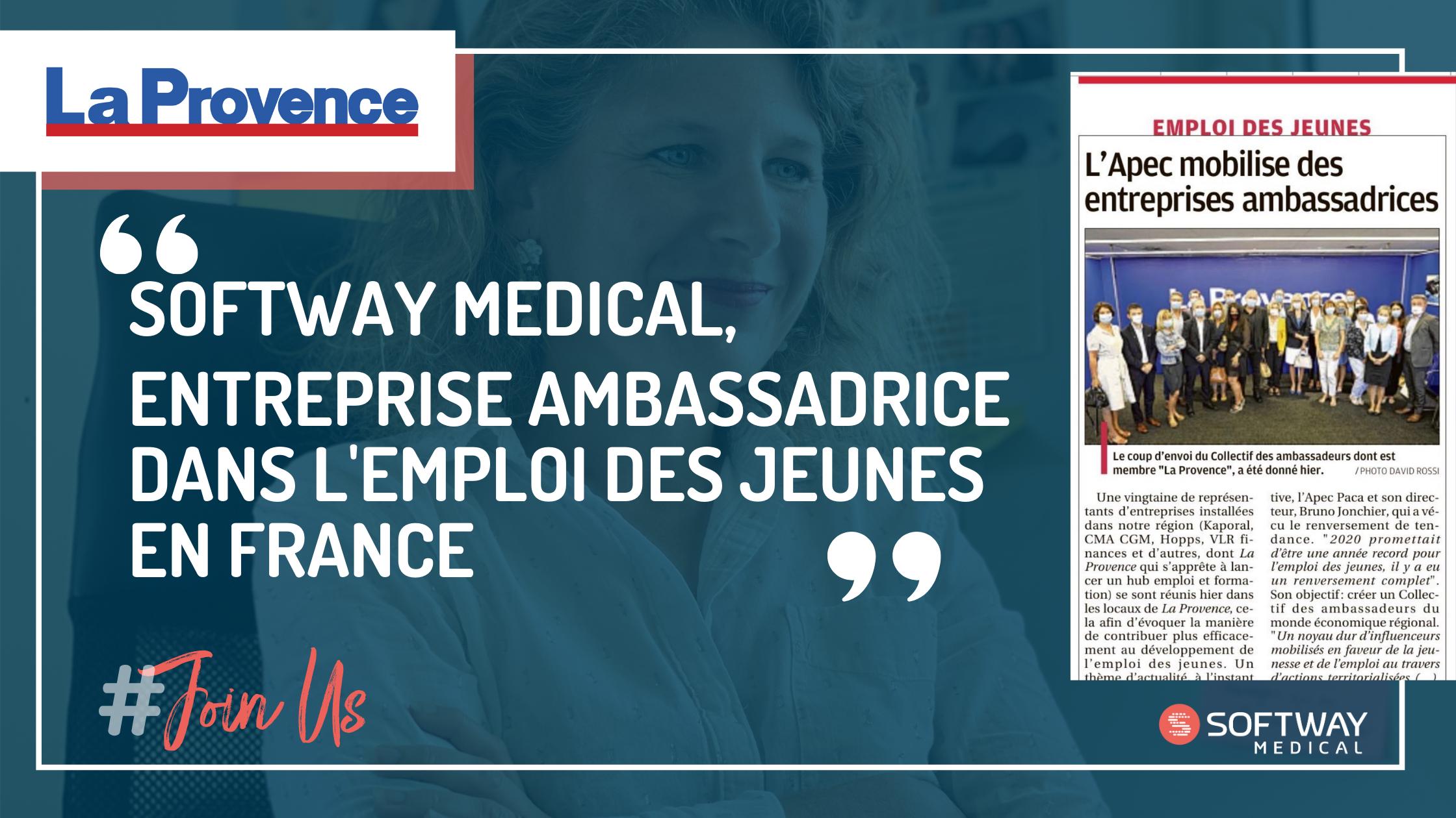 SOFTWAY MEDICAL : ENTREPRISE AMBASSADRICE DANS L'EMPLOI DES JEUNES EN FRANCE