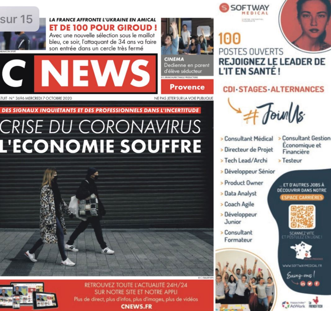 Softway Medical dans CNews : demandez le journal !