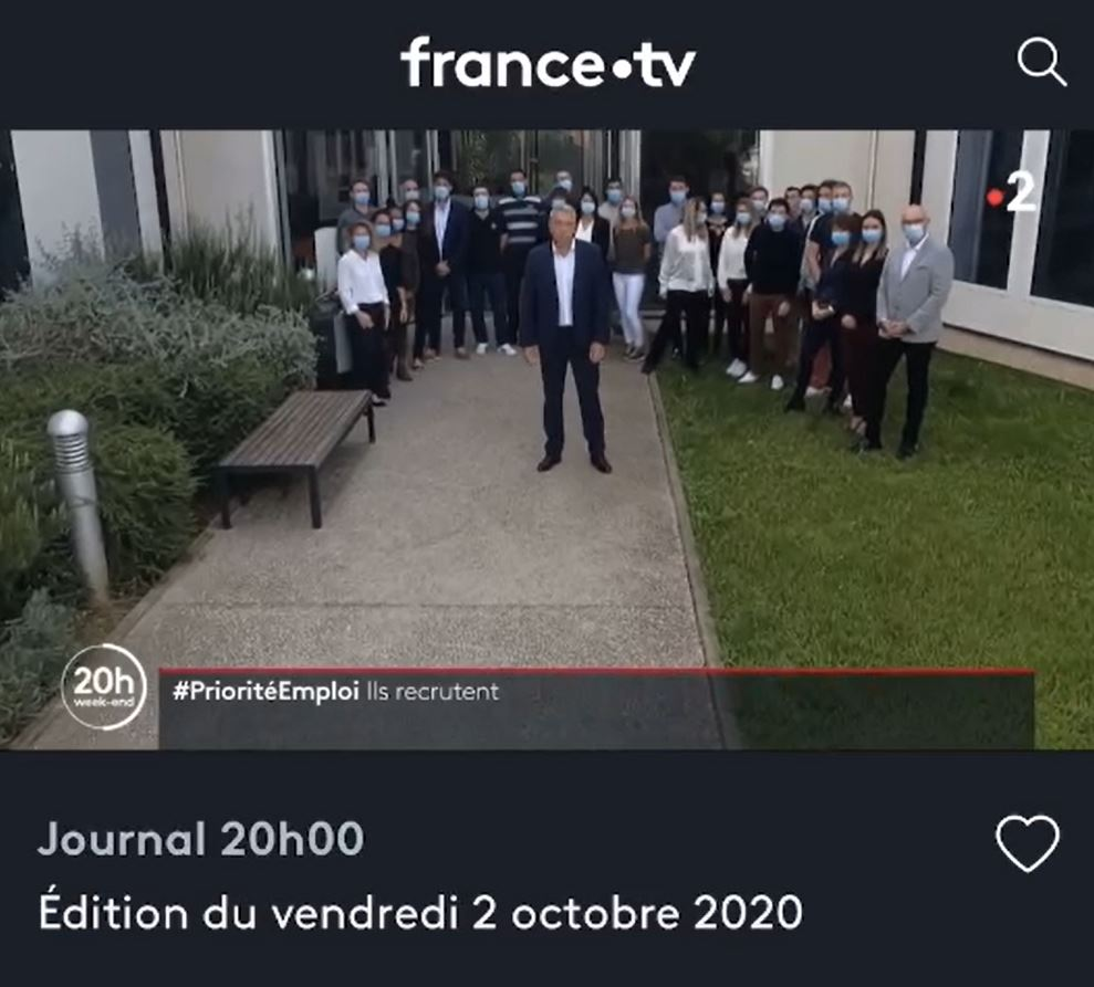 REPLAY : Softway Medical recrute sur France 2 au JT de 20h