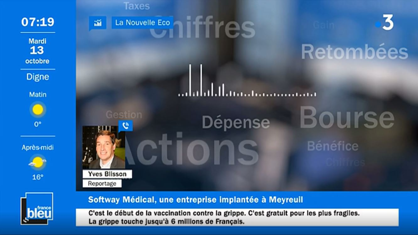 Softway Medical en live sur France Bleu et sur France 3 !