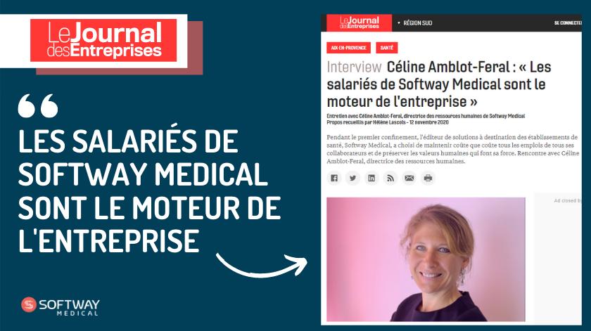 « Les salariés de Softway Medical sont le moteur de l'entreprise » : l'ITW de notre DRH par Le Journal des Entreprises !