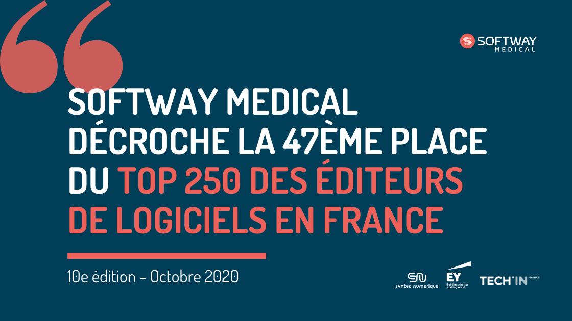 SOFTWAY MEDICAL décroche la 47ème place du TOP 250 des éditeurs de logiciels Français !