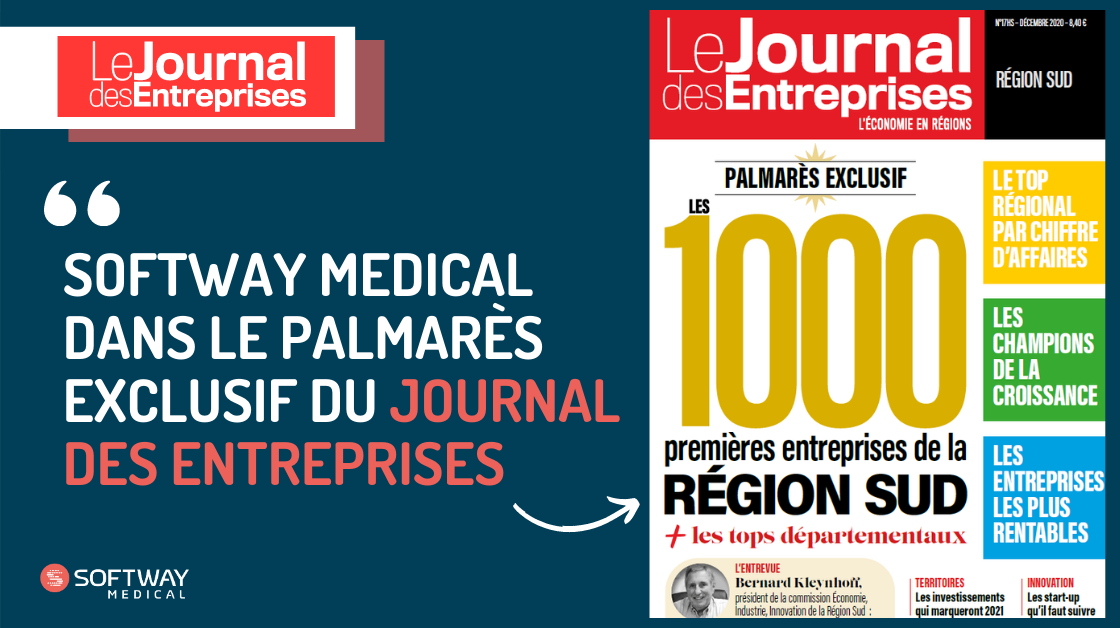 SOFTWAY MEDICAL dans le palmarès exclusif du Journal des Entreprises !