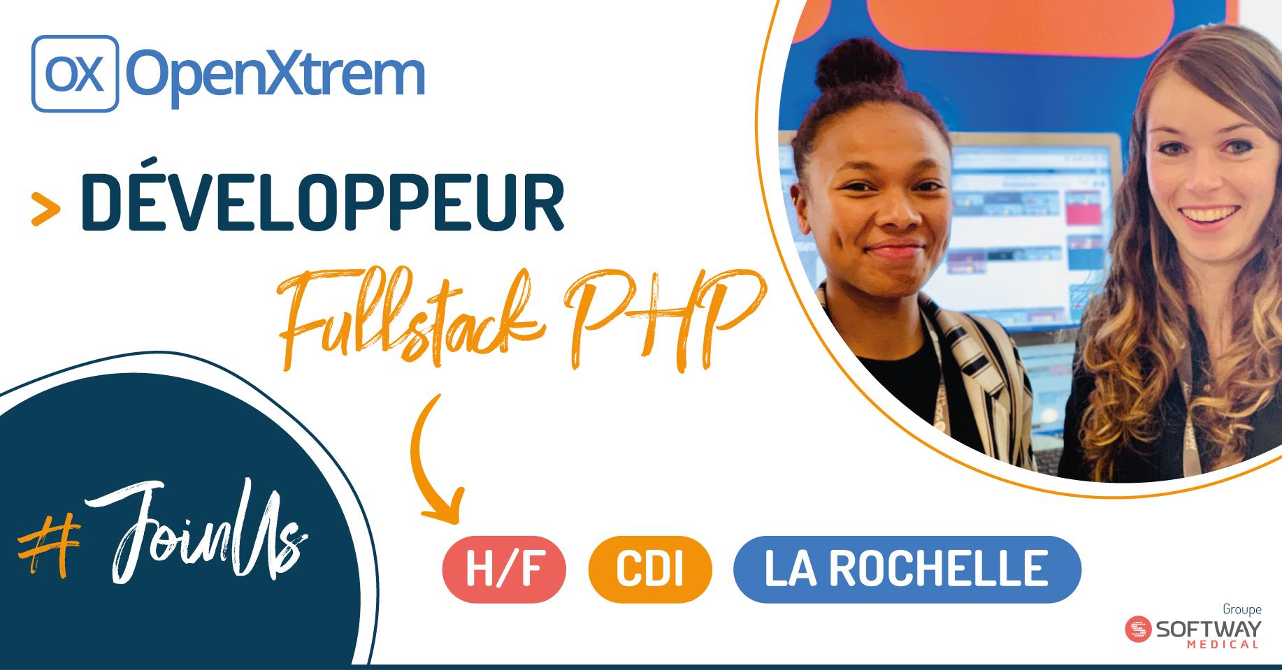 DEVELOPPEUR FULL STACK PHP/VUE.JS – H/F – La Rochelle