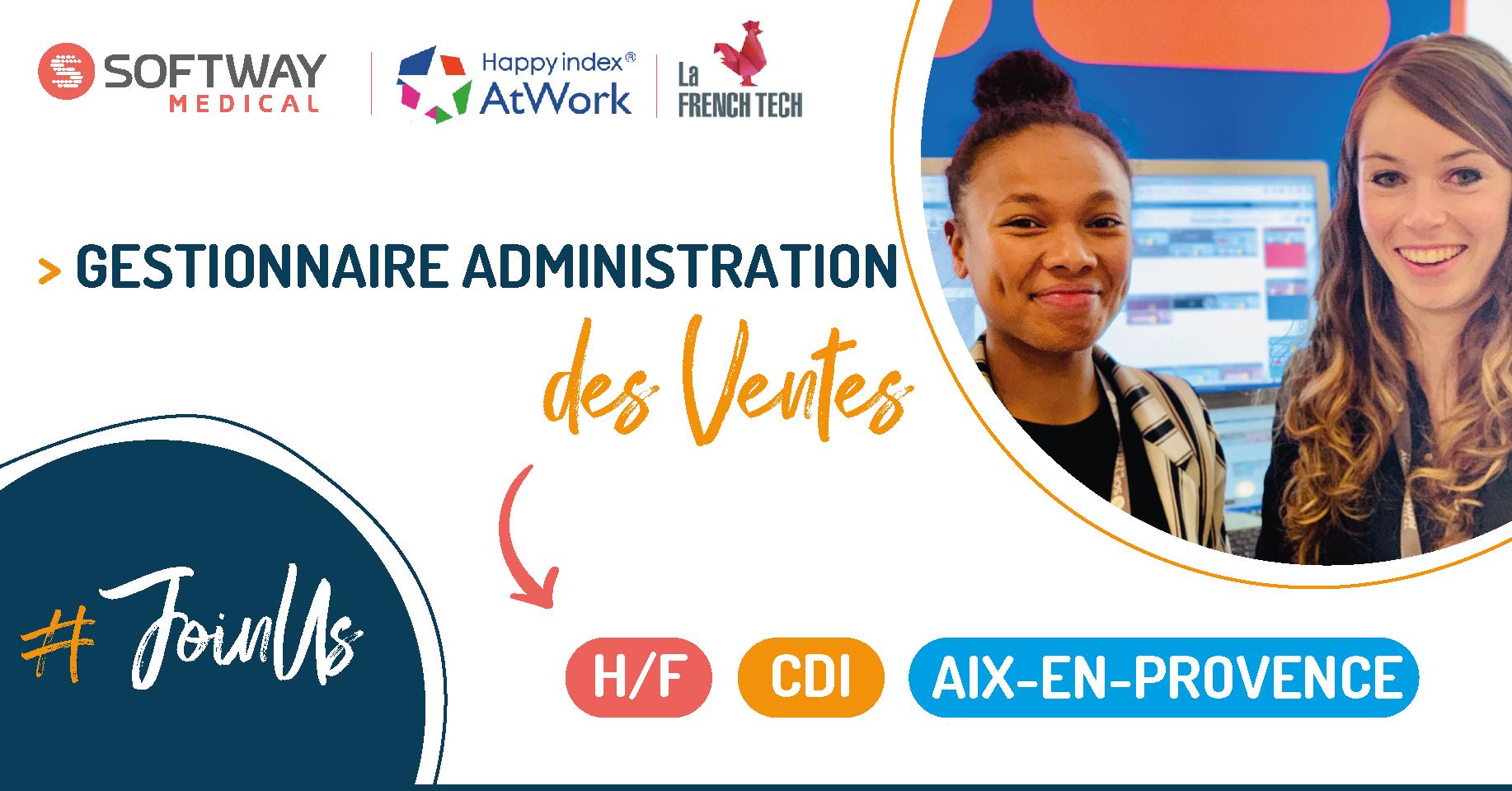 GESTIONNAIRE ADMINISTRATION DES VENTES – H/F – Aix-En-Provence