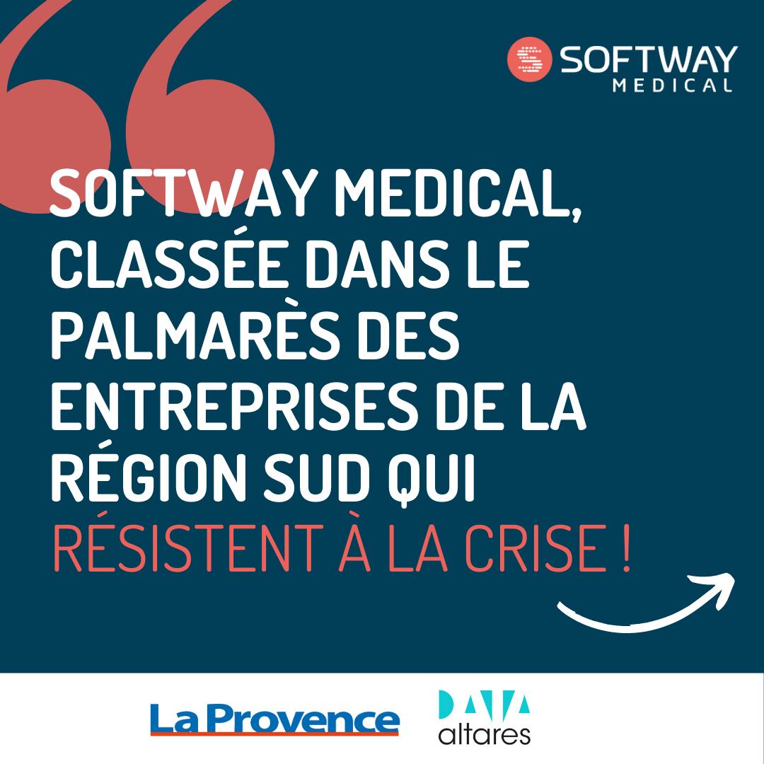 Softway Medical classée dans le palmarès des entreprises qui résistent à la crise !
