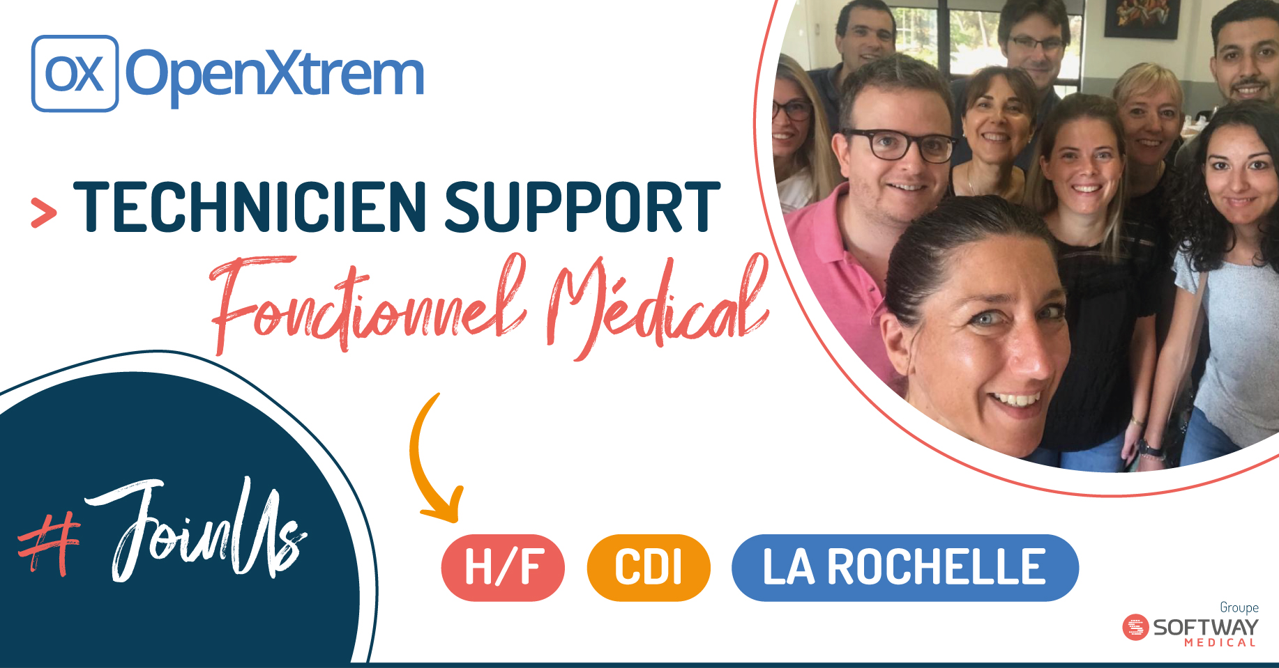TECHNICIEN SUPPORT FONCTIONNEL MEDICAL – H/F – La Rochelle