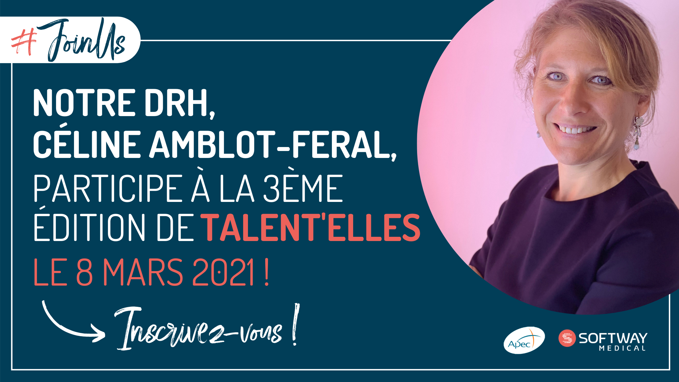 Céline Amblot Feral, DRH de Softway Medical, participe à la 3ème édition de Talent'elles !