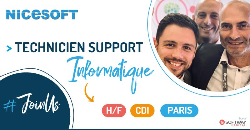 TECHNICIEN SUPPORT INFORMATIQUE – H/F – PARIS