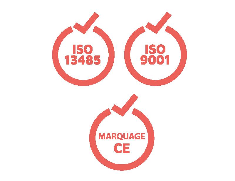 MARQUAGE CE, ISO 13485et ISO 9001