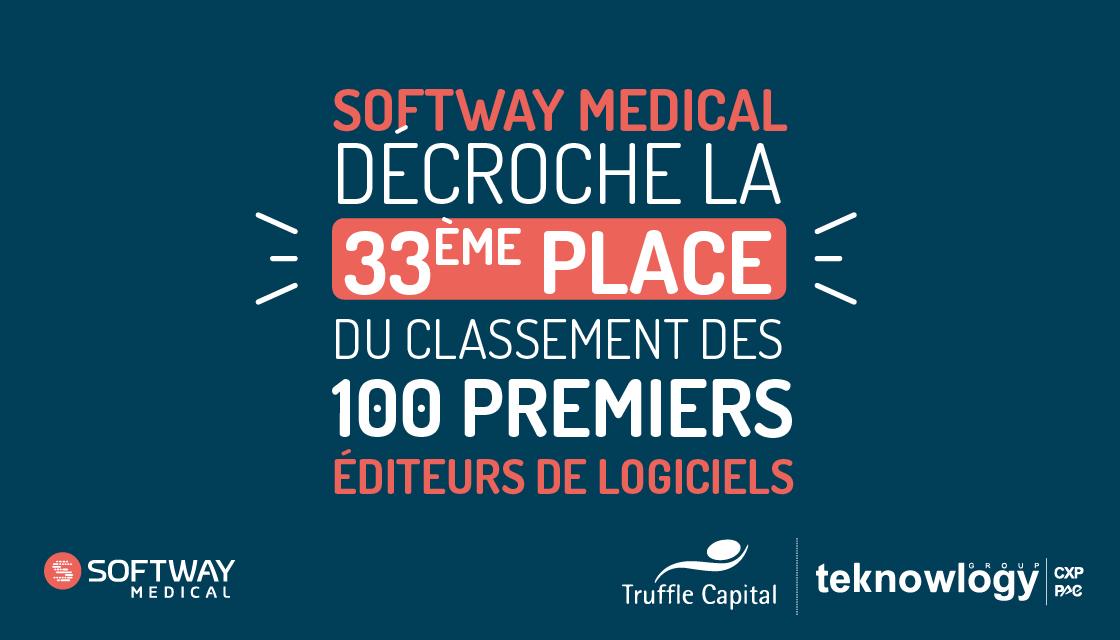 SOFTWAY MEDICAL décroche la 33ème place du classement des 100 premiers éditeurs de logiciels