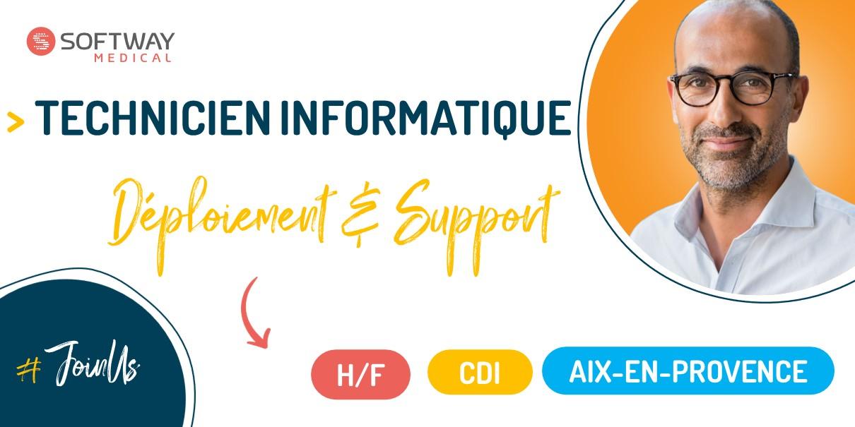 Technicien Informatique – Déploiement et support – Région Est – F/H